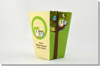 Owl - Look Whooo's Having A Baby - Personalized Baby Shower Popcorn Boxes