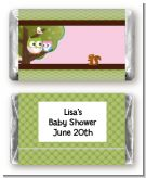 Owl - Look Whooo's Having A Girl - Personalized Baby Shower Mini Candy Bar Wrappers