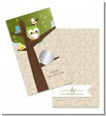 Owl - Look Whooo's Having A Baby - Baby Shower Scratch Off Game Tickets