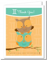 Owls | Gemini Horoscope - Baby Shower Thank You Cards