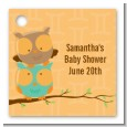 Owls | Gemini Horoscope - Personalized Baby Shower Card Stock Favor Tags thumbnail