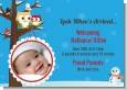 Owl - Winter Theme or Christmas - Birth Announcement Photo Card thumbnail