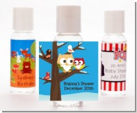 Owl - Winter Theme or Christmas - Personalized Baby Shower Hand Sanitizers Favors