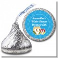 Owl - Winter Theme or Christmas - Hershey Kiss Baby Shower Sticker Labels thumbnail