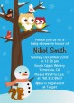 Owl - Winter Theme or Christmas - Baby Shower Invitations thumbnail