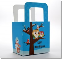 Owl - Winter Theme or Christmas - Personalized Baby Shower Favor Boxes