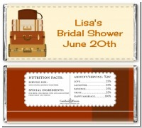 Pack Your Bags Destination - Personalized Bridal Shower Candy Bar Wrappers