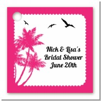 Palm Tree - Personalized Bridal Shower Card Stock Favor Tags