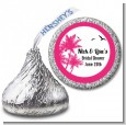 Palm Tree - Hershey Kiss Bridal Shower Sticker Labels thumbnail