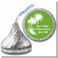 Palm Trees - Hershey Kiss Bridal Shower Sticker Labels thumbnail