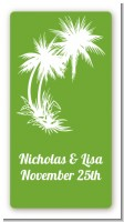 Palm Trees - Custom Rectangle Bridal Shower Sticker/Labels