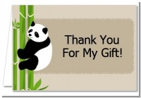 Panda - Baby Shower Thank You Cards