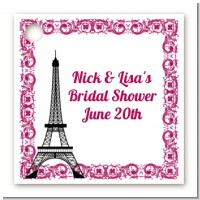 Paris - Personalized Bridal Shower Card Stock Favor Tags