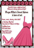 Party Dress | Sweet 16 - Birthday Party Invitations