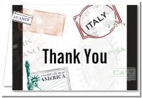 Passport - Bridal Shower Thank You Cards
