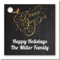 Peace and Joy - Personalized Christmas Card Stock Favor Tags