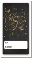 Peace and Joy - Custom Rectangle Christmas Sticker/Labels