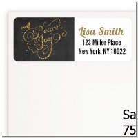 Peace and Joy - Christmas Return Address Labels