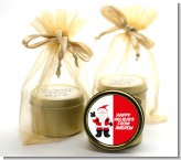 Peace Out Santa - Christmas Gold Tin Candle Favors