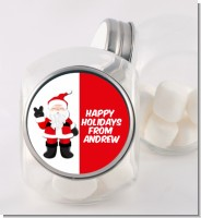 Peace Out Santa - Personalized Christmas Candy Jar