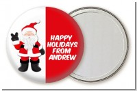 Peace Out Santa - Personalized Christmas Pocket Mirror Favors
