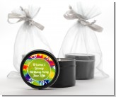 Peace Tie Dye - Birthday Party Black Candle Tin Favors