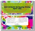 Peace Tie Dye - Personalized Birthday Party Candy Bar Wrappers thumbnail