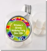 Peace Tie Dye - Personalized Birthday Party Candy Jar