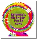 Peace Tie Dye - Personalized Birthday Party Centerpiece Stand