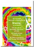 Peace Tie Dye - Birthday Party Petite Invitations