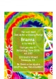 Peace Tie Dye - Birthday Party Petite Invitations thumbnail