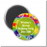 Peace Tie Dye - Personalized Birthday Party Magnet Favors