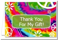 Peace Tie Dye - Birthday Party Thank You Cards