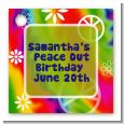 Peace Tie Dye - Personalized Birthday Party Card Stock Favor Tags thumbnail