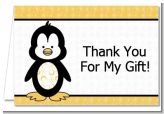 Penguin - Birthday Party Thank You Cards