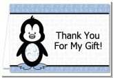 Penguin Blue - Birthday Party Thank You Cards
