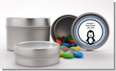 Penguin Blue - Custom Baby Shower Favor Tins