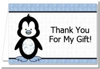 Penguin Blue - Baby Shower Thank You Cards