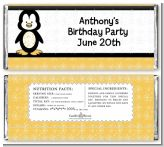 Penguin - Personalized Birthday Party Candy Bar Wrappers