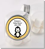 Penguin - Personalized Baby Shower Candy Jar