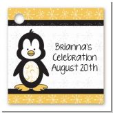 Penguin - Personalized Baby Shower Card Stock Favor Tags