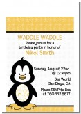 Penguin - Birthday Party Petite Invitations