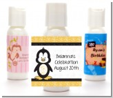 Penguin - Personalized Birthday Party Lotion Favors