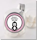 Penguin Pink - Personalized Baby Shower Candy Jar