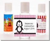 Penguin Pink - Personalized Baby Shower Hand Sanitizers Favors