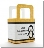 Penguin - Personalized Baby Shower Favor Boxes