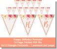 Fun to be One - 1st Birthday Girl - Birthday Party Themed Pennant Set thumbnail