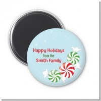 Peppermint Candy - Personalized Christmas Magnet Favors
