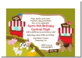 Petting Zoo Carnival - Birthday Party Petite Invitations
