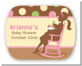 Pickles & Ice Cream - Personalized Baby Shower Rounded Corner Stickers